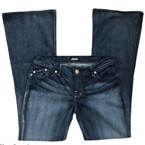 Rock & Republic Flare Banchee Faded Dark Jeans, 31